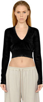 Rick Owens V Neck Wool Knit Cropped Sweater