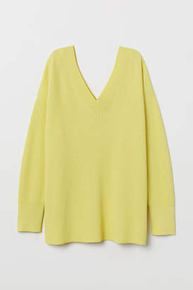 H&M Ribbed Sweater - Yellow