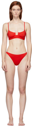 Solid and Striped Red The Harley Bikini