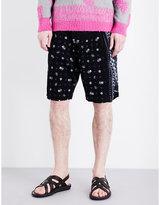 Sacai Aloha Corduroy Shorts