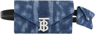Burberry Deer Print Quilted Denim Wallet & Card Case Belt Bag