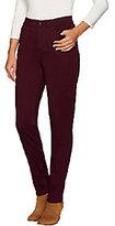 """Denim & Co. How Modern"""" Regular Colored Denim Slim Leg Jeans"""