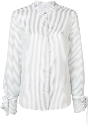 Paul Smith Band Collar Striped Shirt