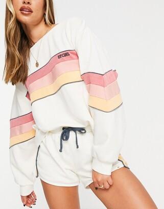 Rip Curl Golden State oversized crew neck sweater set in cream