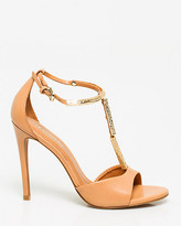 Le Château Brazilian-Made Leather T-Strap Sandal