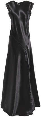 Philosophy di Lorenzo Serafini Lace-trimmed Satin-crepe Gown