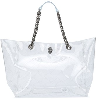 Kurt Geiger Chain Handle Transparent Tote Bag