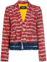DSQUARED2 contrast embroidered blazer