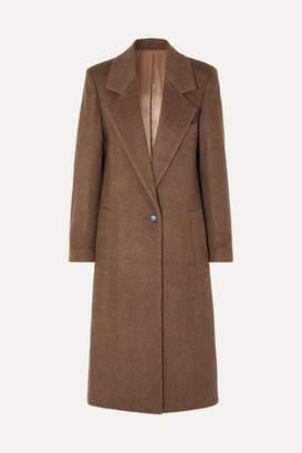 Joseph Captain Herringbone Wool-blend Coat - Brown
