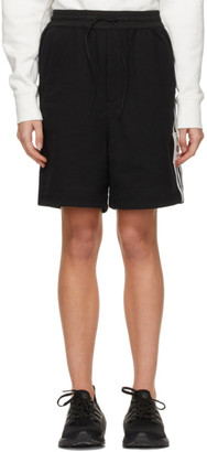 Y-3 Black 3-Stripes Shorts