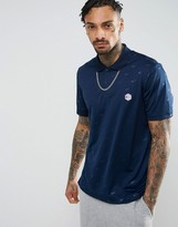 Reebok Retro Polo Shirt In Navy Bk6585