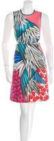 Clover Canyon Feather Print Cutout Dress