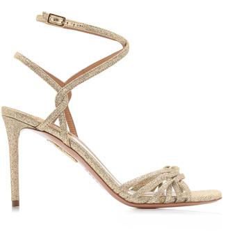 Aquazzura May Glittered Sandals