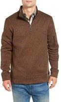 Jeremiah Men's Lance Herringbone Zip Mock Neck Sweater