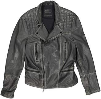 AllSaints \N Grey Leather Jackets