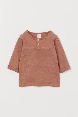 H&M Henley Top - Orange