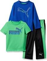 Puma Little Boy's Boys' Three Piece T-shirt and Pant Set Pants