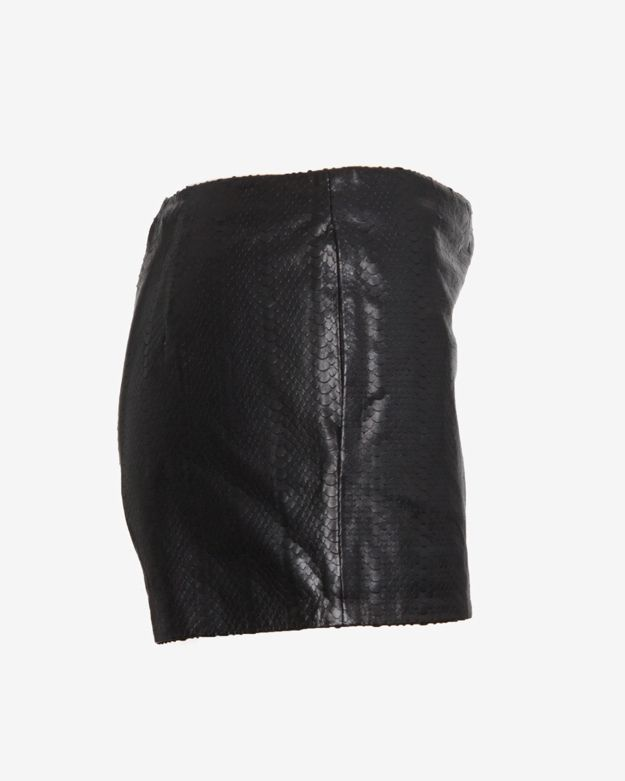 J Brand Ready-to-wear Embossed Leather Shorts: Black