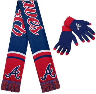 Women's Atlanta Braves Glove and Scarf Set