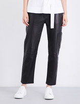 Theory Thorelle cropped leather trousers
