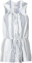 Stella McCartney striped sleeveless drawstring top - women - Cotton/Cupro - 42