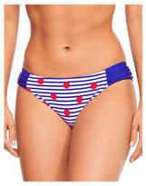 Figleaves Womens Tailor Spot Ruched Brief