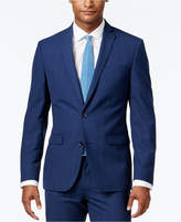 Bar III Men's Slim-Fit Blue Plaid Jacket, Only at Macy's