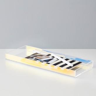 Pottery Barn Teen Acrylic Iridescent Desk Tray