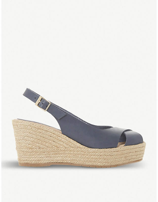 48b83469bd93e Dune Navy Sandals - ShopStyle UK
