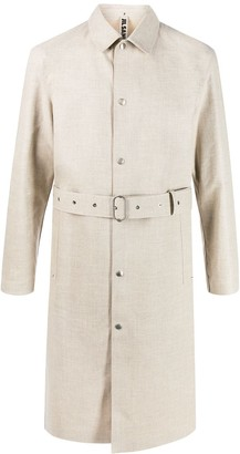 Jil Sander Pointed Collar Trench Coat