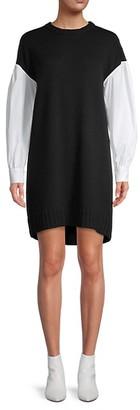 Cinq à Sept Dropped Shoulder Mini Shift Dress