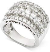 Macy's Five-Row Diamond Band (3 ct. t.w.) in 14k White Gold