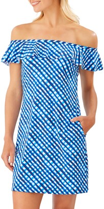 Tommy Bahama Harbour Island Off the Shoulder Ruffle Spa Dress