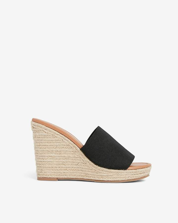 Express Stretch Slide Wedge Sandals