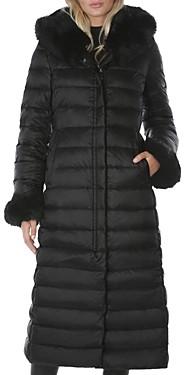 Dawn Levy Lexie Fur Hood Maxi Puffer Coat