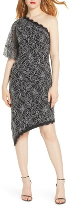Harlyn One Shoulder Lace High/Low Cocktail Dress