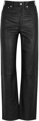 Rag & Bone Jane black leather trousers