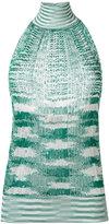 Missoni halterneck knitted top