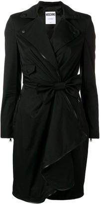 Moschino bow wrap dress