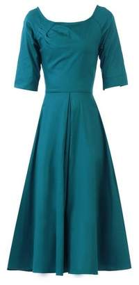Dorothy Perkins Womens *Jolie Moi Teal Scoop Neckline Skater Dress, Teal