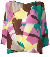 M Missoni abstract print blouse - women - Silk - S