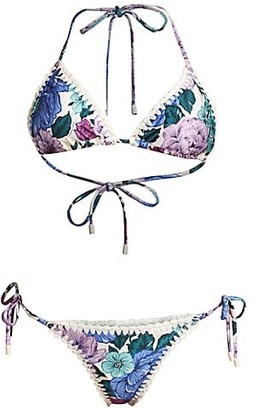 Zimmermann Poppy 2-Piece Crochet Edge Bikini Set