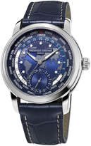 Frederique Constant 42mm Gents World Timer Manufacture Watch, Blue