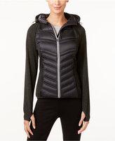 MICHAEL Michael Kors Knit-Sleeve Active Puffer Coat