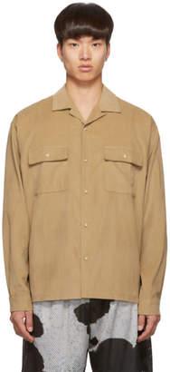 John Elliott Tan Corduroy Snap Shirt