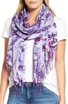 Nordstrom Women's Marble Tissue Wool & Cashmere Scarf