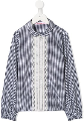 Familiar Gingham Check Blouse