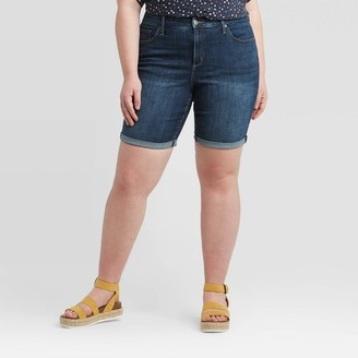 Universal Thread Women's Plus Size Mid-Rise Bermuda Jean Shorts - Universal ThreadTM