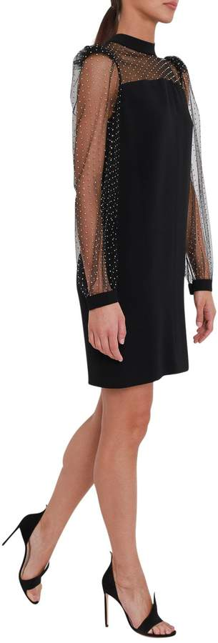 Givenchy Short Dress With Metal Applications And Box