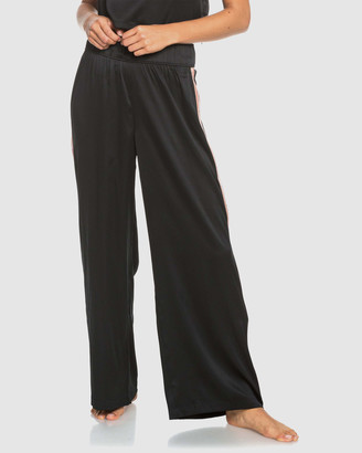 Roxy Womens Want It All Wide Leg Satin Pant